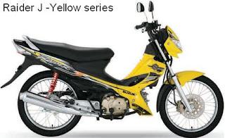 Suzuki Raider J yellow color