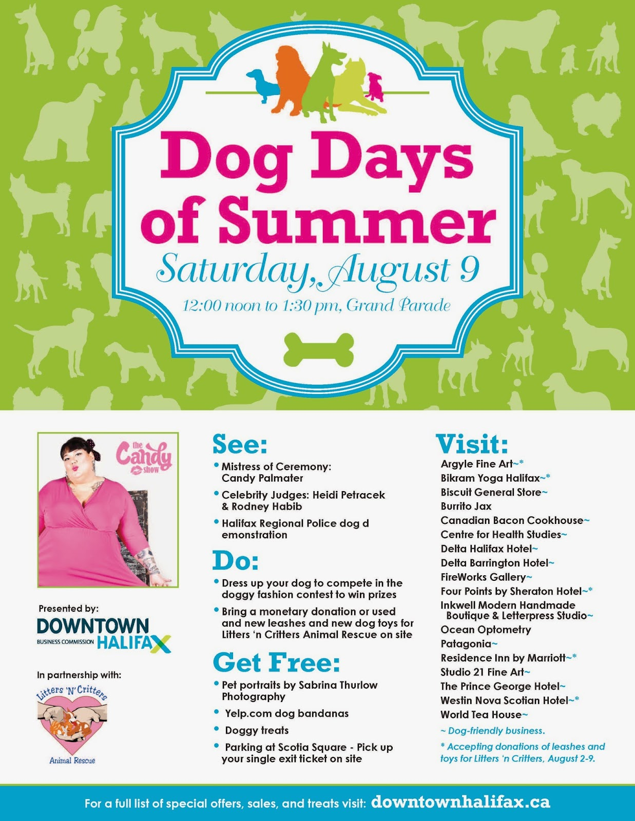 http://downtownhalifax.ca/index.php/events/dog-days-of-summer-2014/