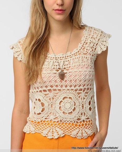 Grace y todo en Crochet: LINDO TOP PASO A PASO..