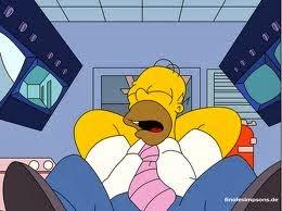 La foto mostra Homer Simpson, icona della pigrizia!