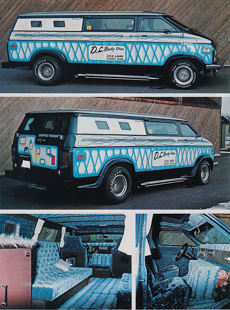 This chopped 1971 Chevy custom van was voted van of the year at the 1974 NSVA.