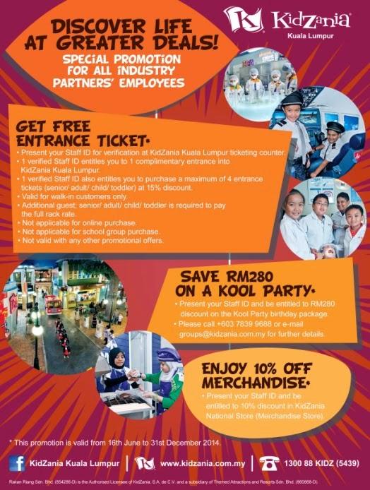 Exclusive Promotion From Kidzania Kuala Lumpur