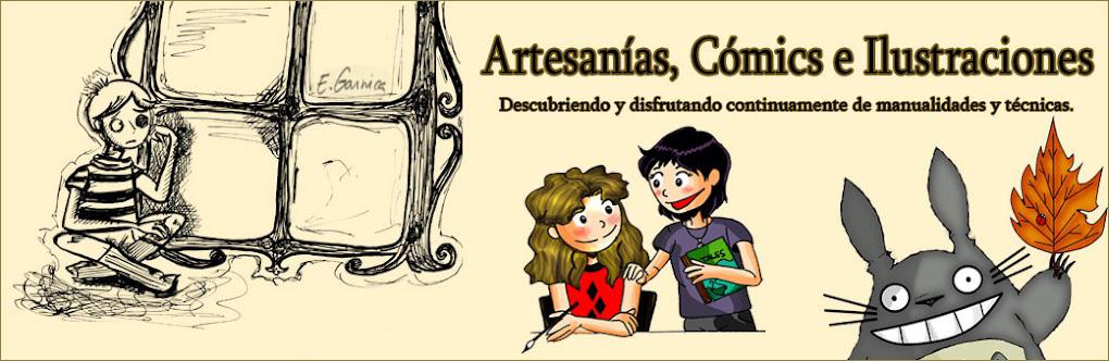Artesanias, Comics e Ilustraciones.