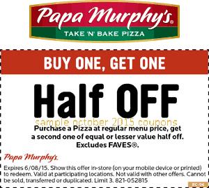 Papa murphy's coupon code