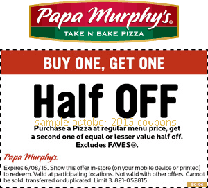 Papa Murphy's is the product of a merger between two take-and-bake companies. Murphy's Pizza and Papa Aldo's teamed up in to form the biggest take-and-bake chain in the U.S. STAY IN TOUCH Papa Murphy's loves their customers and interacts frequently on social media.