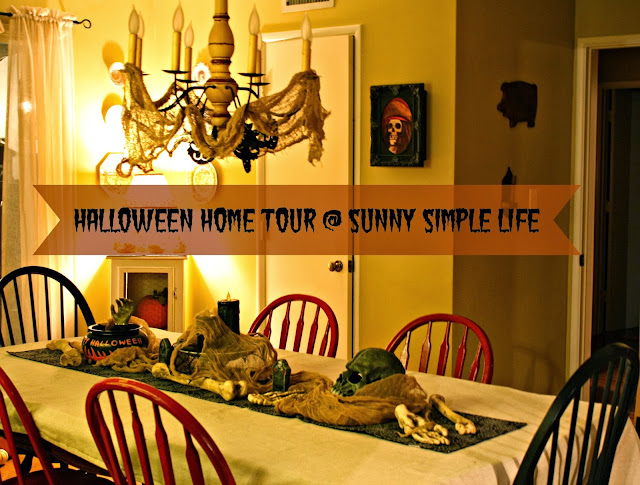 Halloween decor, Halloween dining room table, home tour