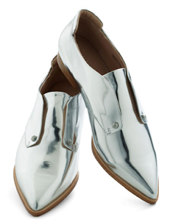 Chrome Pointy Loafers