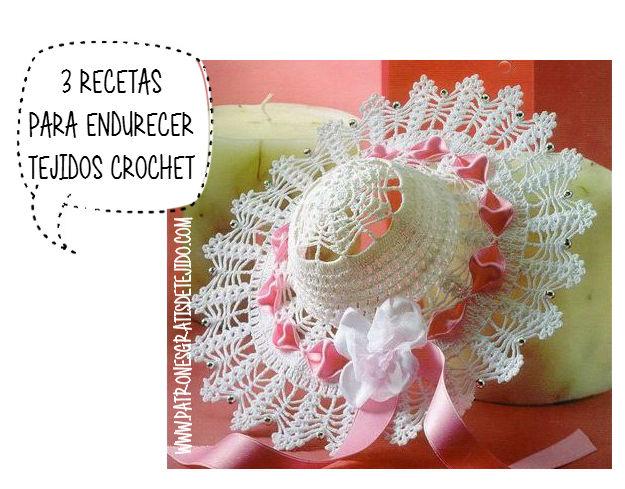 Cómo endurecer souvenires tejidos al crochet con recetas caseras