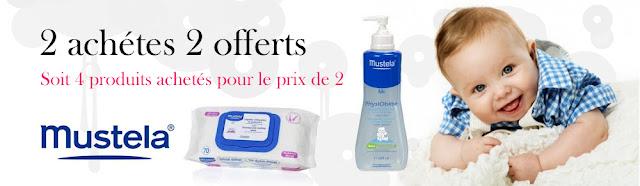 Mustela: Lot de 4 produits pour le prix de 2 produits