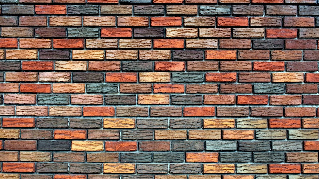 Colored Bricks Wall HD Wallpaper