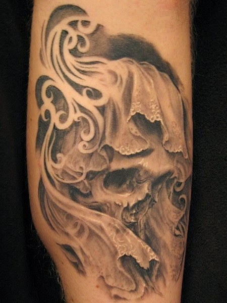 Amazing Skull Tattoos on Sleeve