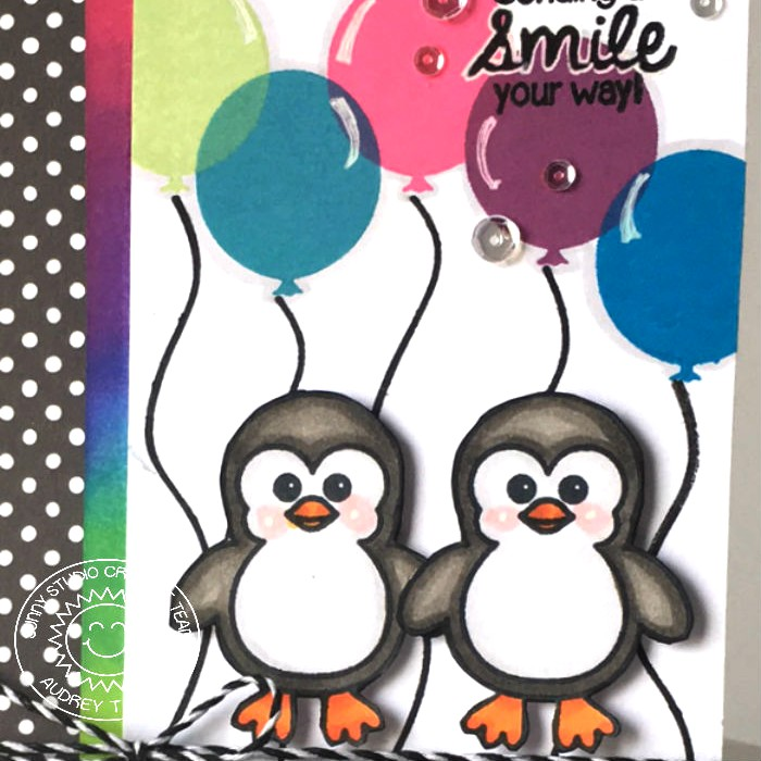 Sunny Studio Sending A Smile Birthday Card With Audrey