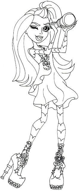 free printable monster high coloring pages gigi grant freaky field