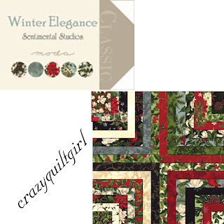 Moda WINTER ELEGANCE Christmas Quilt Fabric by Sentimental Studios