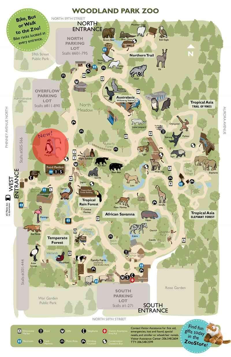 Cleveland Zoo Map 2013 on