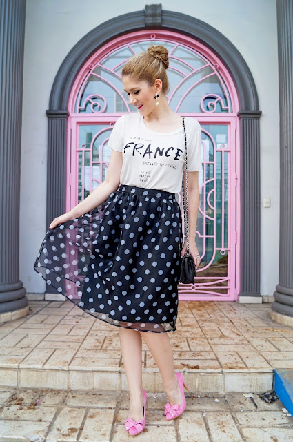 Girly Parisian Chic Outfit