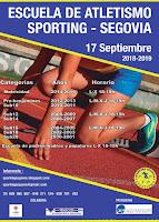 INSCRIPCIÓN 2018/2019. INICIO DE TEMPORADA EL 17 DE SEPTIEMBRE