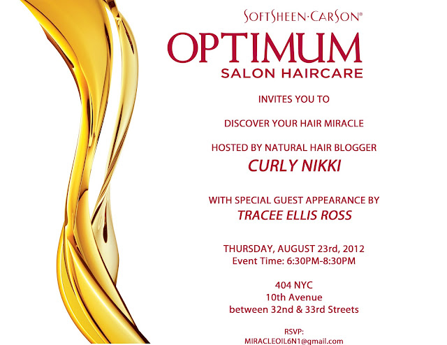 Meet me at Curly Nikki's event in NYC on 8/23!
