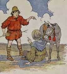 El asno y su sombra fábula para niños con moraleja de Esopo