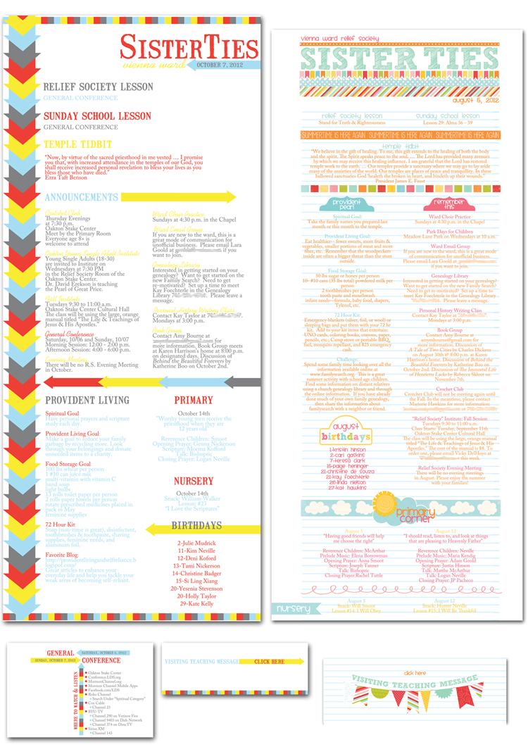 Church Newsletter Design Samples