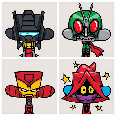 Mad*l Characters Print Series Batch 3 by MAD - Transformers' Grimlock, Kamen Rider, Marvel's Iron Man & the Masters of the Universe's Orko
