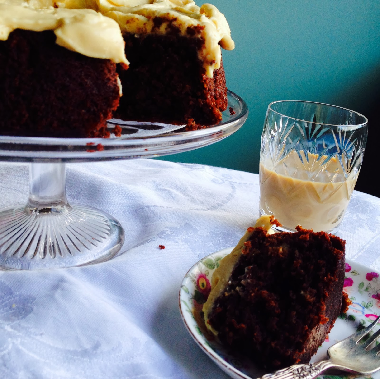 St Patrick's Day Chocolate Potato Cake With Irish Cream Frosting - Gluten-Free Photo And Recipe Credit: Lucy Corry/The Kitchenmaid
