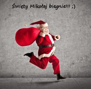 Święty Mikołaj biegnie!! :]