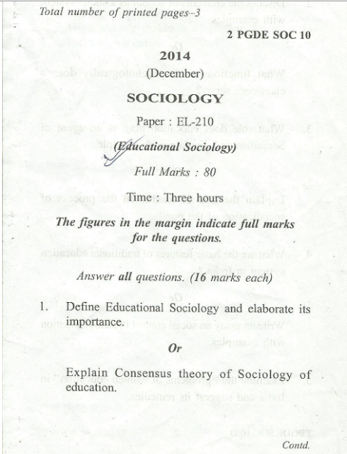 Papers on sociology