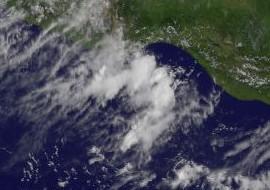 Pazifische Hurrikansaison Mexiko: 96E vor Oaxaca, Daniel, Pazifische Hurrikansaison, Nordost-Pazifik, aktuell, Satellitenbild Satellitenbilder, Juli, 2012, Mexiko, Hurrikansaison 2012, Oaxaca, Vorhersage Forecast Prognose,
