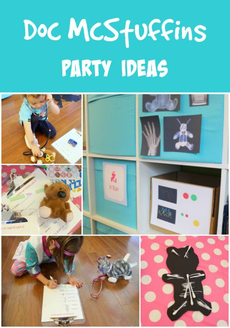 Ideas and TONS of printables for an adorable Doc McStuffins birthday party!