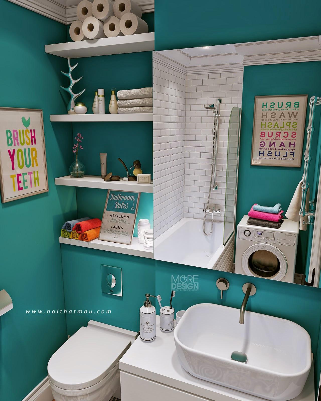 Phòng tắm gọn gàng, tiện nghi