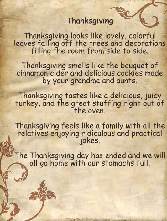 Meaning of thanksgiving essay