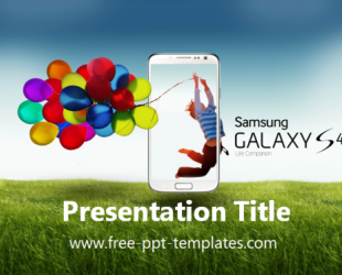 Galaxy S4 Ppt Template Free Powerpoint Templates