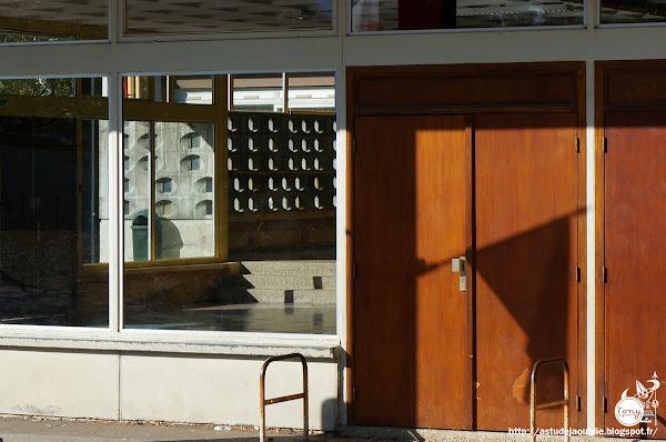 Meaux - Ecoles et logements de fonction, Compayre, Condorcet, Binet, Alain  Grand Ensemble de Beauval, ZUP.  Architectes: Marcel Lods, Henri Beauclair, Paul Depondt  GEAI (Groupement d'études pour une architecture industrialisée)  Construction: 1967 - 1970