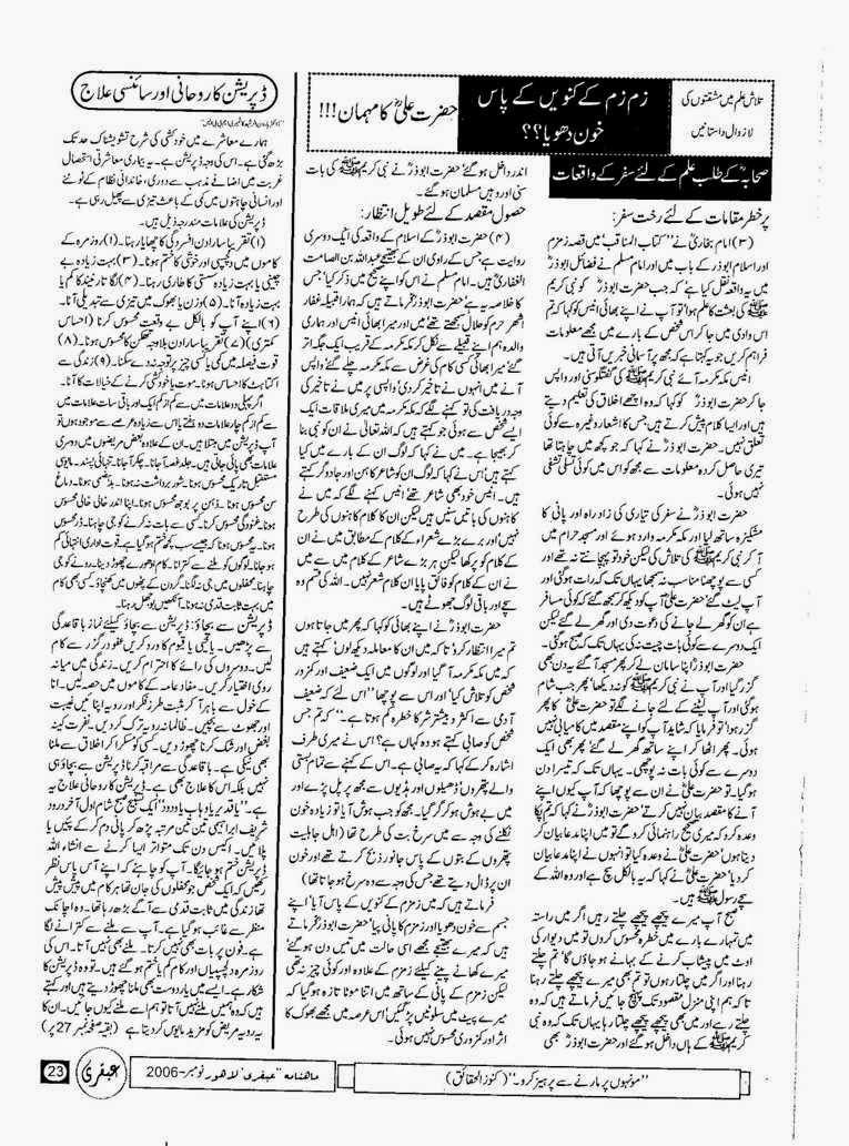 Ubqari Magazine November 2006 Page 23