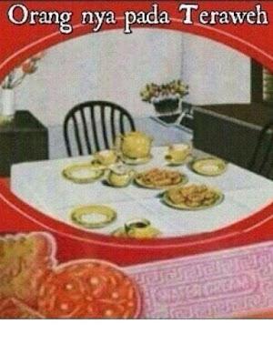 Gambar lucu Makanan saat Puasa dengan kata kata Lucu dan Kocak