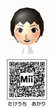 竹内朱莉(スマイレージ)のMii QRコード トモダチコレクション新生活