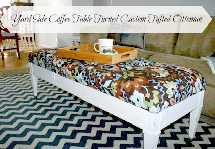 Yard Sale Coffee Table Ottoman