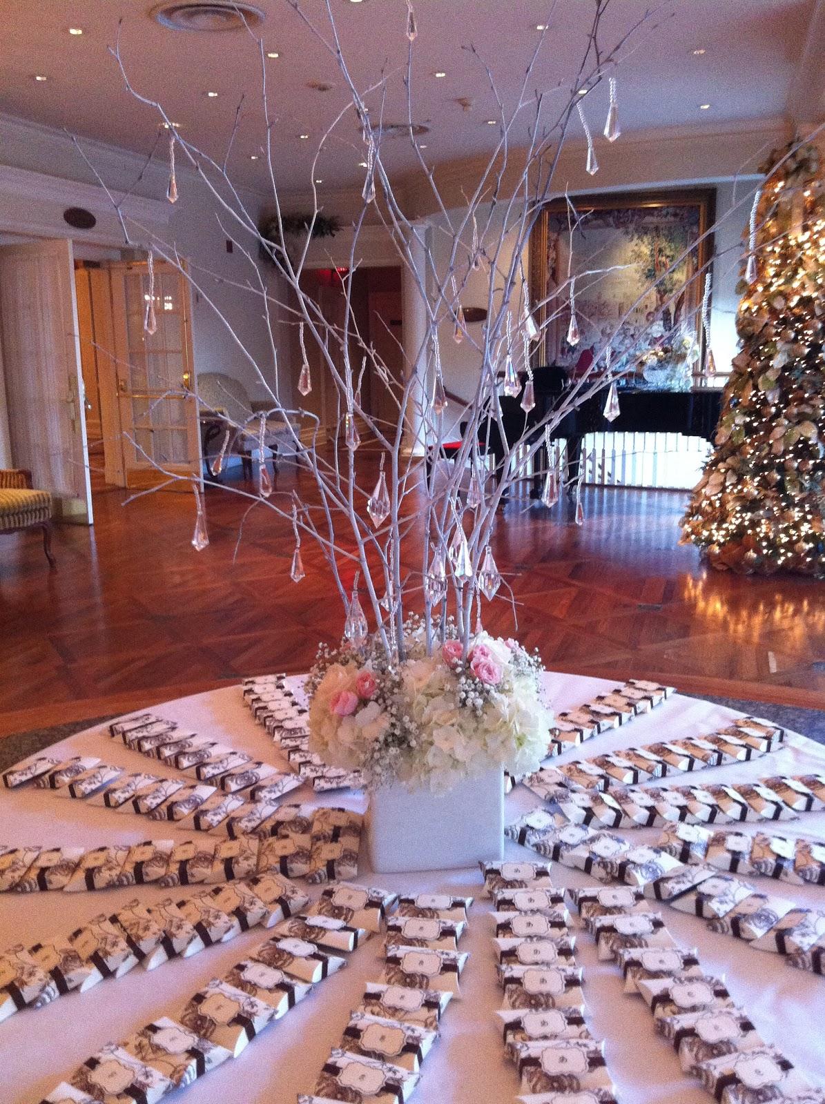 Cool winter wonderland table decorations