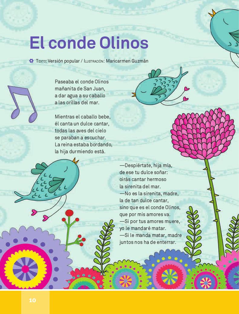 El conde Olinos - Español Lecturas 4to 2014-2015