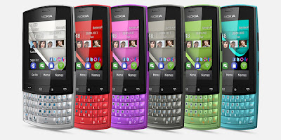 Nokia Asha 303, Nokia Asha in Blue, Black, Red, Green, white, Purple