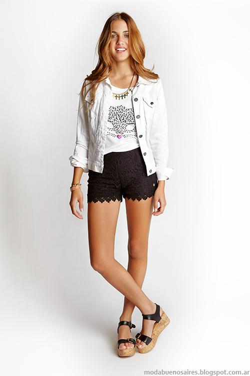 Como quieres que te quiera primavera verano 2014. Moda verano 2014 shorts encaje.