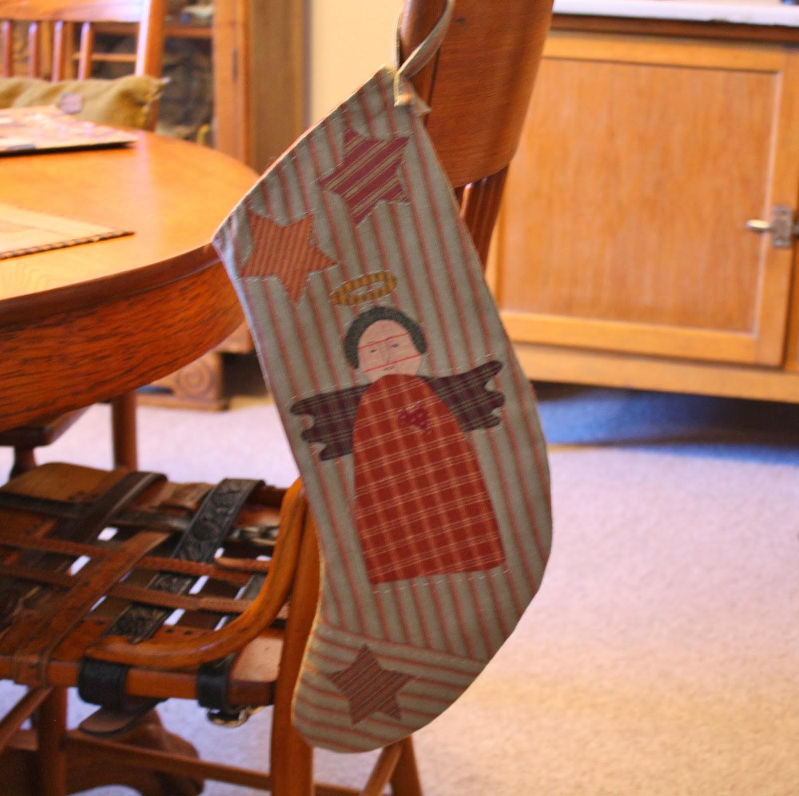 primitive angel christmas stocking - Primitive Christmas Stockings