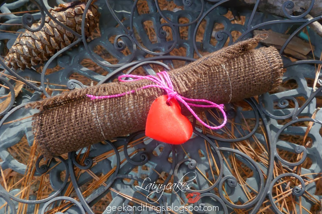 DIY Valentine Scroll Sealed with a heart