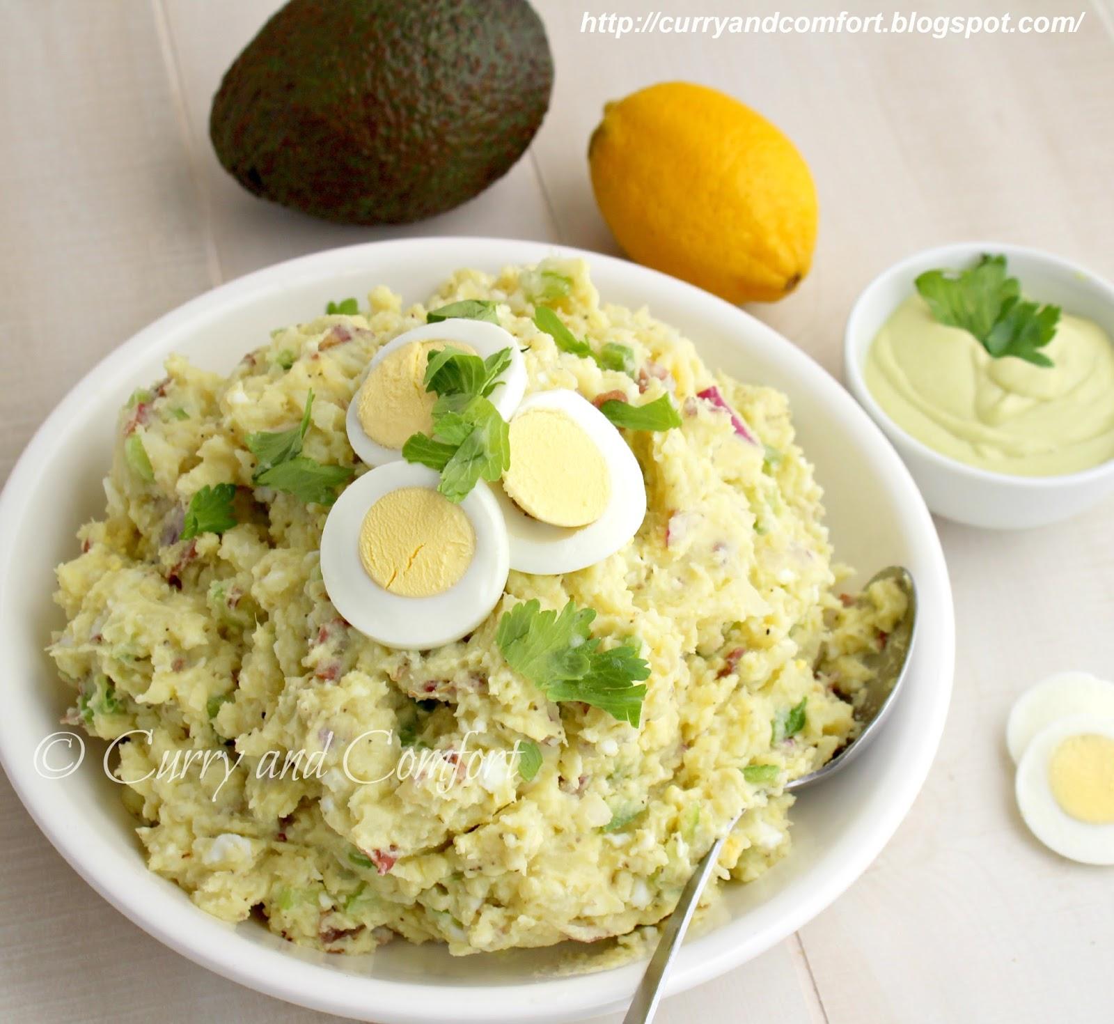 Kitchen Simmer: Smashed Potato Salad with Avocado Dressing