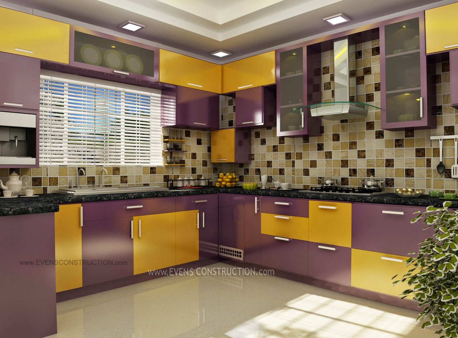 Evens Construction Pvt Ltd Modern Kerala Kitchen