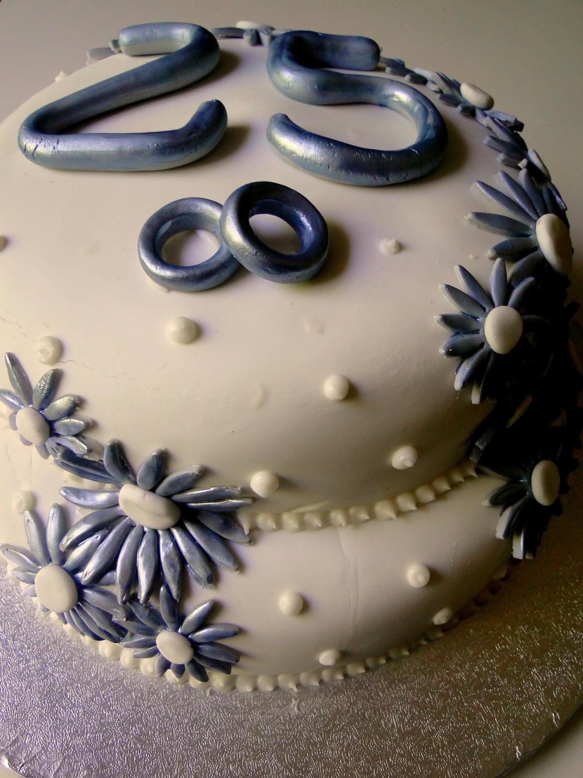 Delicious i cupcakes tarta bodas de plata tarta de dos - Decoracion para bodas de plata ...