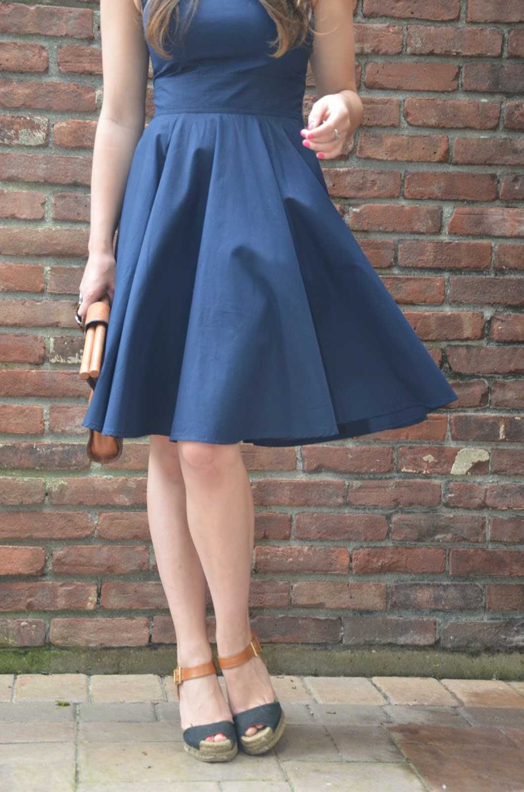 in navy | full skirt