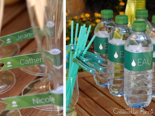 étiquettes à bouteille kit android / android party bottles label