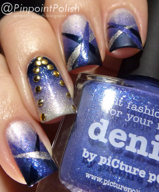 Picture Polish, Blog fest 2013, nail art, atomic, electric blue, denim